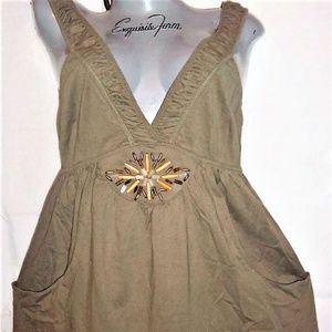 new AVON OLIVE GREEN swimsuit COVER UP BEACH DRESS